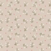 Lewis & Irene Enchanted Forest - 5090 - Snowdrops on Pale Beige - A186.1 - Cotton Fabric